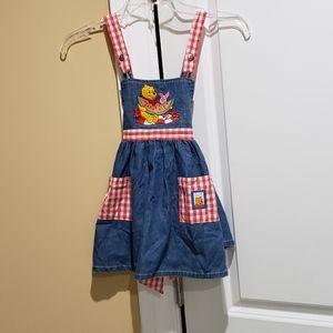 Little girls denim jumper